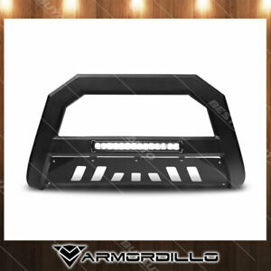 Fits 07 14 Chevy Avalanche Bull Bar Matte Black Push Bumper Guard Ar Series Led