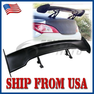 Us 56 Gt Style Black Car Adjustable Rear Trunk Spoiler Wing Lip Universal Fit