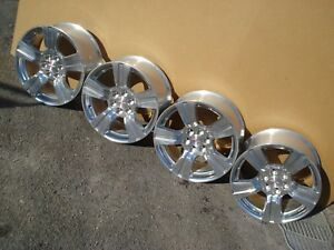Set 4 18 Aluminum Polished Ss Rims Chevy Colorado Gmc Canyon Wheels 15 19 Only