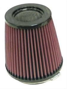K N Air Filter Element Round Tapered Cotton Gauze Red 4 Diameter Inlet Ea