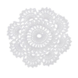 Crochet Cotton Lace Doily Table Placemats Doilies Mats White Round 12cm
