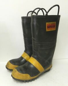 Servus Firefighter Safety Fire Boots Mens Size 10 Wide 3