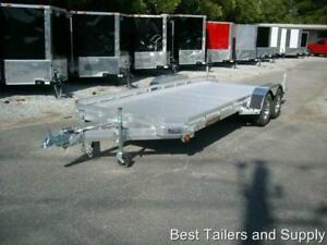 19 7818 Aluma Car Hauler Equipment Utility Trailer New All Aluminum Trailer 7x18