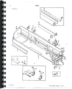 Parts Manual Massey Ferguson 760 Combine Sn 09412