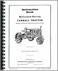 Operators Manual Mccormick Farmall Regular Fairway Tractor