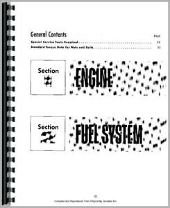 Service Manual International Harvester 157 175 200 4 Cyl Gas Engine