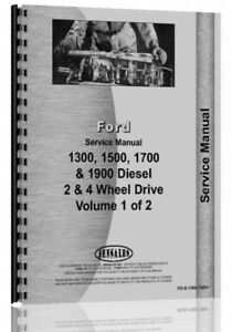 Service Manual Ford 1300 1500 1700 1900 Tractor