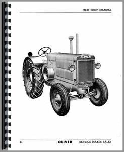 Service Manual Oliver 90 99 Tractor