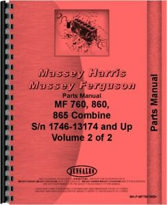 Parts Manual Massey Ferguson 865 760 860 760 860 865 Combine