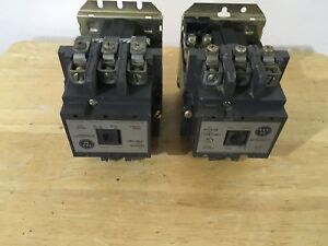Pair Of Westinghouse Size 2 Motor Starter A201k2ca 120 Volt Coil 45amps