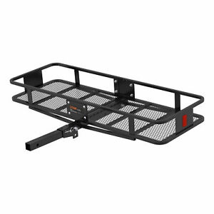 Curt 18151 Basket style Cargo Carrier With 2 Folding Shank