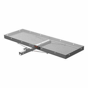 Curt 18100 Aluminum Tray style Cargo Carrier W Folding Shank