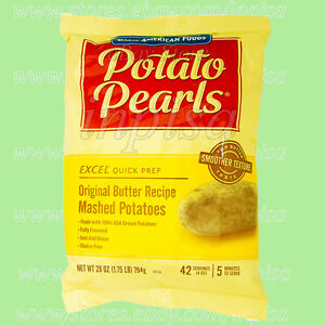Excel Potato Pearls 12 Bags X 28oz Original Butter Recipe Mashed Potatoes