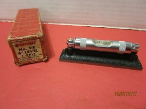 N o s Starrett 98 4 Machinists Level With Ground And Graduated Vial 4 Length