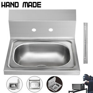 Commercial Wall Mount Kitchen Hand Wash Sink Nsf Stainless Steel
