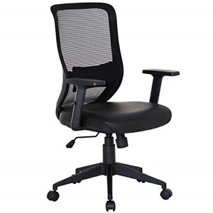 Vecelo Swivel 1 Home Office Chair For Task desk Work black