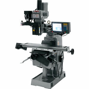 Jet Mill With 3 axis Acu rite G 2 Millpwr Cnc Variable Speed 3 Phase