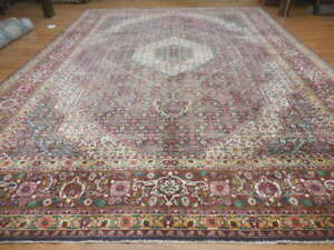 C1930 Vg Dy Antique Fish Tabrizz Herati Bijar Bijdar 11 4x16 2 Estate Sale Rug