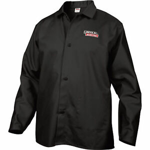 Lincoln Electric Flame retardant Welding Jacket Xl Size 32in Sleeves Black