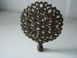 Vintage Large Brass Filigree Ornate Lace Lamp Finial 3 1 2 Wide