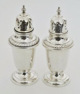 Gorham 759 Hollowware 4 5 8 Sterling Silver Salt And Pepper Shakers Set 09759