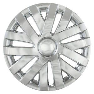 Four New 10 13 Vw Jetta 16 Inch Chrome Hubcap Hub Caps Wheel Rim Covers
