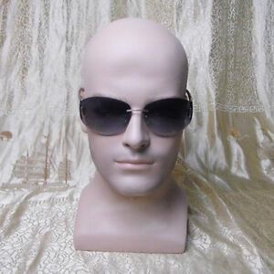 Realistic Lifelike Fiberglass Male Mannequin Head For Hat Wig Glasses Display