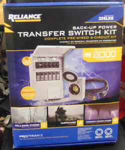 Reliance Back up Power Pre wired 6 circuit Complete Transfer Switch Kit