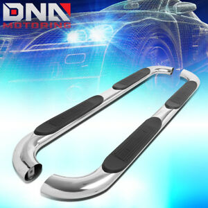 For 2002 2009 Ram Truck Crew Cab 4 Stainless Oval Tubing Nerf Bar Step Boards