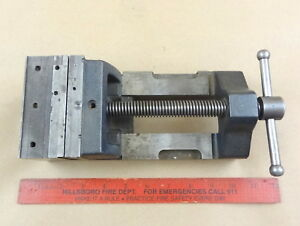 Vintage Bench Vise 4 Machinist Milling Drill Press Lathe Tool Opens To 4 1 4