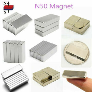 1 100pcs N50 Magnet Tiny Block Cuboid Ring Hole Rare Earth Neodymium Magnets