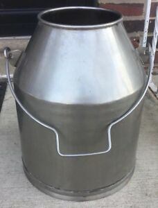 Large Capacity Stainless Steel Milk Container With Handle