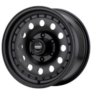 17 Inch Black Wheels Rims Chevy Gmc Truck Astro Safari 5 Lug 5x5 American Racing