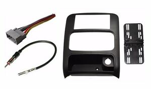 Car Stereo Radio Double Din Dash Kit Harness Antenna For 2002 2007 Jeep Liberty