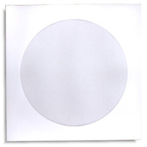 1000 pak White Paper Cd dvd Sleeves With Window And No Flap 100gram Weight