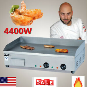 Commercial Electric Countertop Griddle Flat Top Restaurant Grill Bbq 4400w Hot