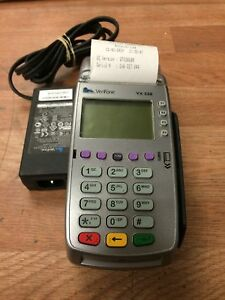 Verifone Credit Card Machine Termial Vx520 Used Free Shipping No Contract