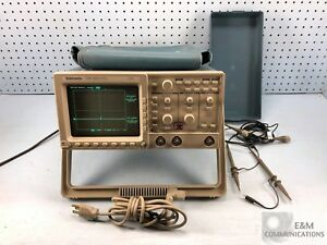 Tds 320 Tektronix 2 Channel Analog Oscilloscope 100mhz 500ms s W Two Probes