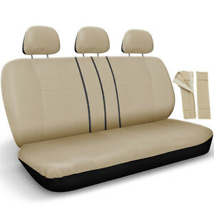 Rear Seat Cover Set For Car Truck Suv Split Bench Poly Flat Cloth 8pc