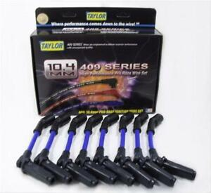 Taylor Cable Spark Plug Wires 409 Pro Race 10 40mm Black Wire Spiral Core Set