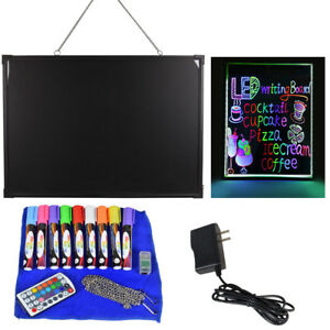 Led Message Writing Board 28 x20 Illuminated Erasable Neon Restaurant Menu Sign