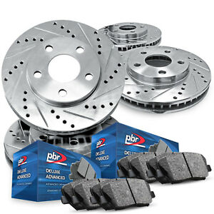 For 2015 Hyundai Sonata Full Kit Pbr Axxis Drill Slot Brake Rotors Ceramic Pads