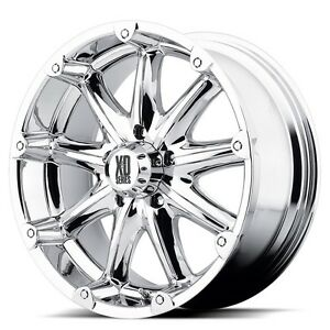 18 Inch Chrome Wheels Rim Xd Series Badland Xd779 8 Lug Set Of 4 Xd77989080218