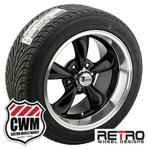 18 Inch 18x8 18x9 Black Wheels Rims R T5 Tires For Chevy Chevelle 1966 1972