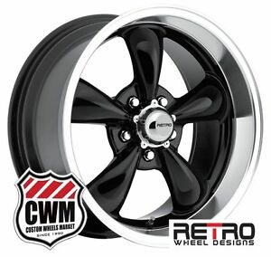 17 18 Inch 17x8 18x9 Retro Black Wheels Rims 5x4 75 For Chevy 1953 1981
