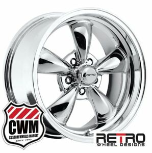 17 Inch 17x8 Chrome Wheels Rims 5x4 50 For Ford Mustang 1965 1973
