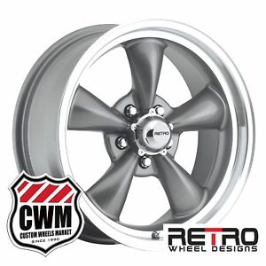 17 Inch 17x7 Gray Wheels Rims For Chevy Chevelle Malibu 1964 1972