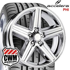 20x8 Iroc Z Chrome Wheels Rims 245 30zr20 Tires For Pontiac Firebird 82 92