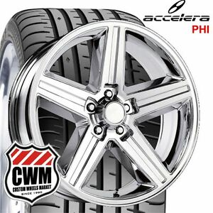 20x8 Iroc Z Chrome Wheels Rims 245 30zr20 Tires 5x4 75 0 Offset