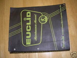 Euclid Dump Truck Rock 10 11 Maintenance Service Manual